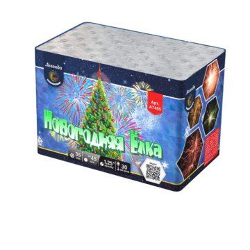 Батарея салютов Легенда Новогодняя ёлка — модуль (A7405)