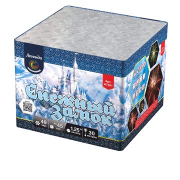 Батарея салютов Легенда Снежный замок — мягкая упаковка (A7501)