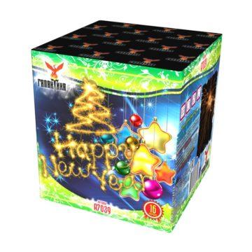 Батареи салютов малого калибра Галактика Happy New Year A7039